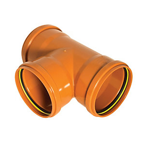 Wickes 110mm Terracotta 87.5 Deg Triple Socket Branch