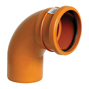 Wickes 110mm Terracotta Drain 87.5 Deg Single Socket Bend