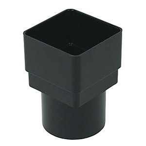 Wickes Black Squareline to Roundline Downpipe Adaptor