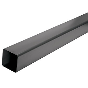 Wickes Black Squareline Downpipe Length 4000mm