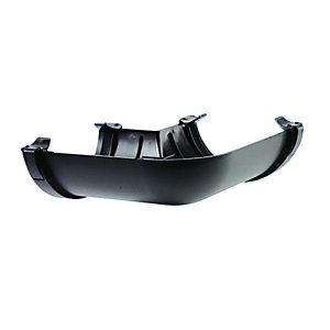 Wickes Black Cast Iron Effect Gutter 90 Deg Angle