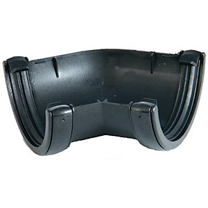 Wickes Black Cast Iron Effect Gutter 135 Deg Angle
