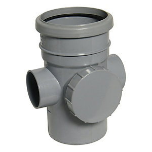 Wickes 110mm Grey Soil Access Pipe