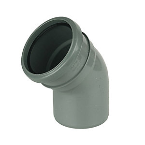 Wickes 110mm Grey Soil Pipe 135 Deg Bend