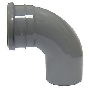 Wickes 110mm Grey Soil Pipe 92.5 Deg Bend