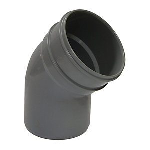 Wickes 110mm Grey Soil Bottom Offset Bend