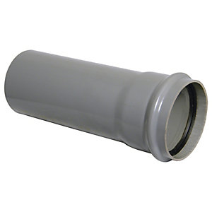 Wickes Soil Pipe Single Socket 3m Grey