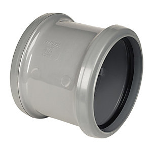 Wickes 110mm Grey Soil Pipe Slip Coupling