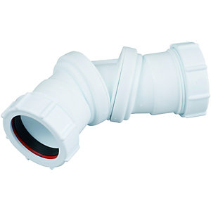 Wickes 40mm Universal Compression Adjustable Bend