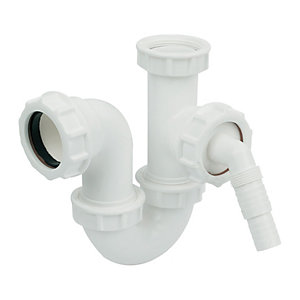 Wickes Compact Tee Inlet 40mm