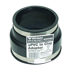 Wickes Clay to 110mm Black PVCu Drain Adaptor