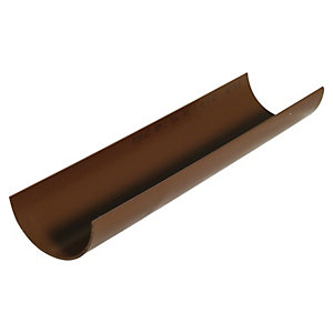 Wickes Brown Miniline Gutter Length 2000mm