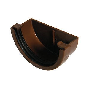 Wickes Brown Miniline Gutter External Stopend