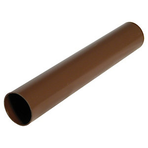 Wickes Brown Miniline Downpipe Length 2000mm