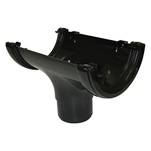 Wickes Black Roundline Gutter Running Outlet