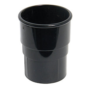 Wickes/Building & Timber Products/Guttering & Drainage/Wickes Black Roundline Downpipe Connector
