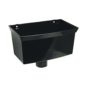 Wickes Black Roundline Rainwater Hopper