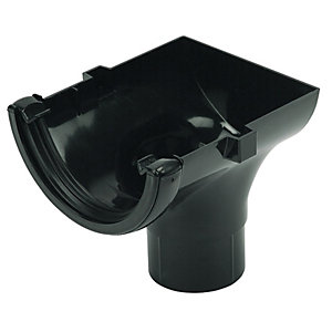Wickes Black Roundline Gutter Stopend Outlet