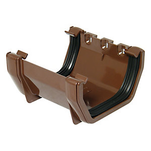 Wickes Brown Squareline Gutter Joint Bracket