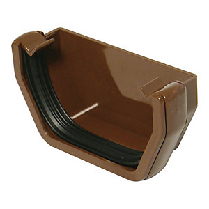 Wickes/Building & Timber Products/Guttering & Drainage/Wickes Brown Squareline Gutter External Stopend