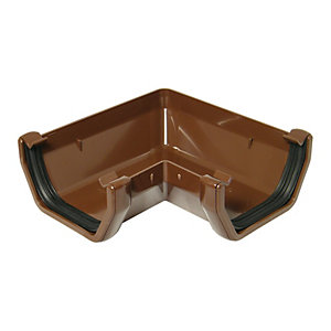 Wickes Brown Squareline Gutter 90 Deg Bend