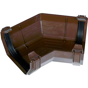 Wickes Brown Squareline Gutter 135 Deg Bend