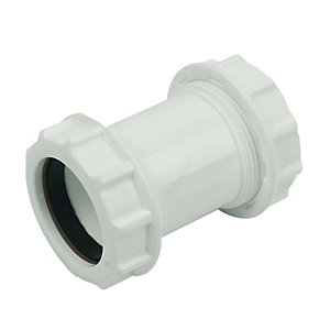 Wickes 32mm Universal Compression Pipe Connector