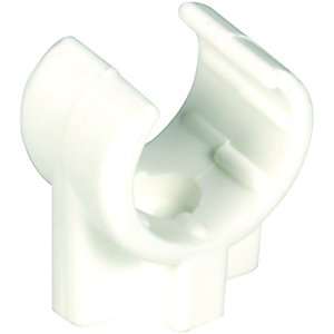 Wickes Overflow Pipe Clips 22mm (Pack of 5)