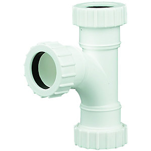 Wickes 32mm Universal Compression Tee