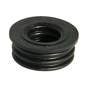Wickes Black 40mm Soil Boss Adaptor