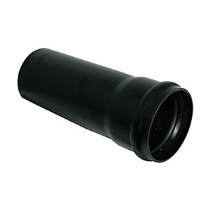 Wickes Soil Pipe Single Socket 3m Black