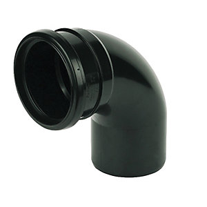 Wickes 110mm Black Soil Pipe 92.5 Deg Bend