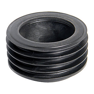 Wickes 110mm Black Drain Adaptor to 68mm Downpipe