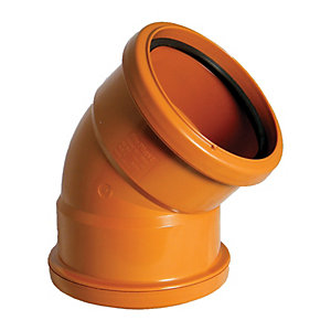 Wickes 110mm Terracota Drain 45 Deg Double Socket Bend