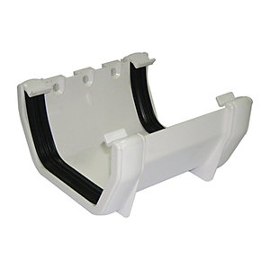 Wickes White Squareline Gutter Joint Bracket