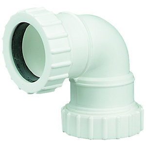 Wickes 40mm Universal Compression 90Deg Knuckle Bend