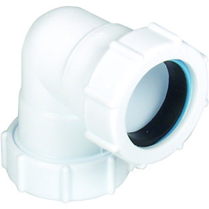 Wickes 32mm Universal Compression 90 Deg Knuckle Bend