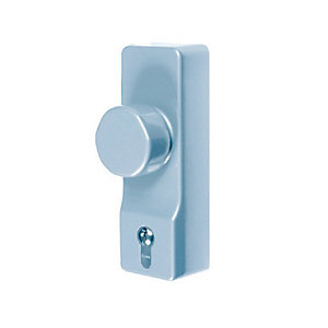 4Trade Outside Access Device Security Knob Silver 225mm x 130mm