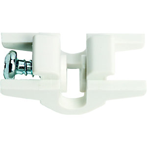 Wickes Curtain Track End Stops White 2 Pack