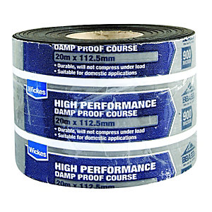 Wickes High Performance Damp Proof Course 112.5mmx20m