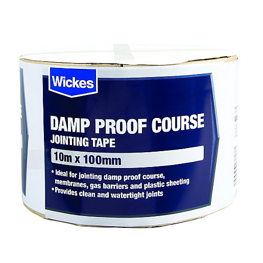 Damp Proof Material : Wickes damp proof course jointing tape mmx m