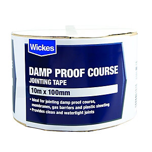 Wickes Damp Proof Course Jointing Tape 100mmx10m