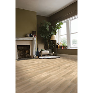 Wickes Timber Beige Wood Effect Porcelain Floor & Wall Tile 150 x 600mm