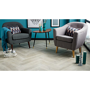 Wickes Timber Grey Wood Effect Porcelain Floor and Wall Tile 150x660mm