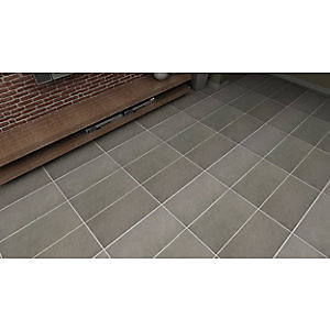 Wickes Urban Grey Glazed Porcelain Wall & Floor Tile 300 x 600mm