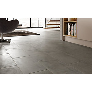 Wickes Manhattan Grey 300 x 600mm Porcelain Floor & Wall Tile - Pack of 6