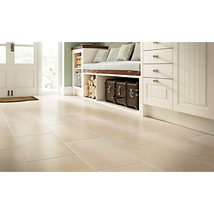 Wickes Manhattan Biege 300 x 600mm Porcelain Floor & Wall Tile - Pack of 6