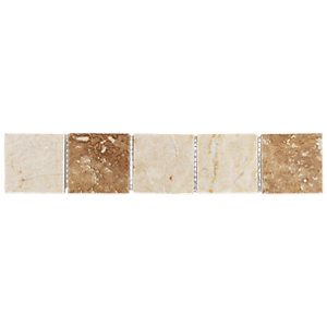 Wickes Beige Matt Marble Border Tile 48x250mm