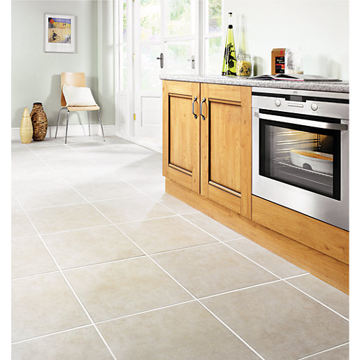 Wickes Vienna Taupe Matt Ceramic Floor Tile 450x450mm