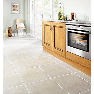 Wickes Vienna Taupe Matt Ceramic Floor Tile 450 x 450mm
